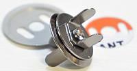 Кнопка 4258 магнит 16мм темный никель