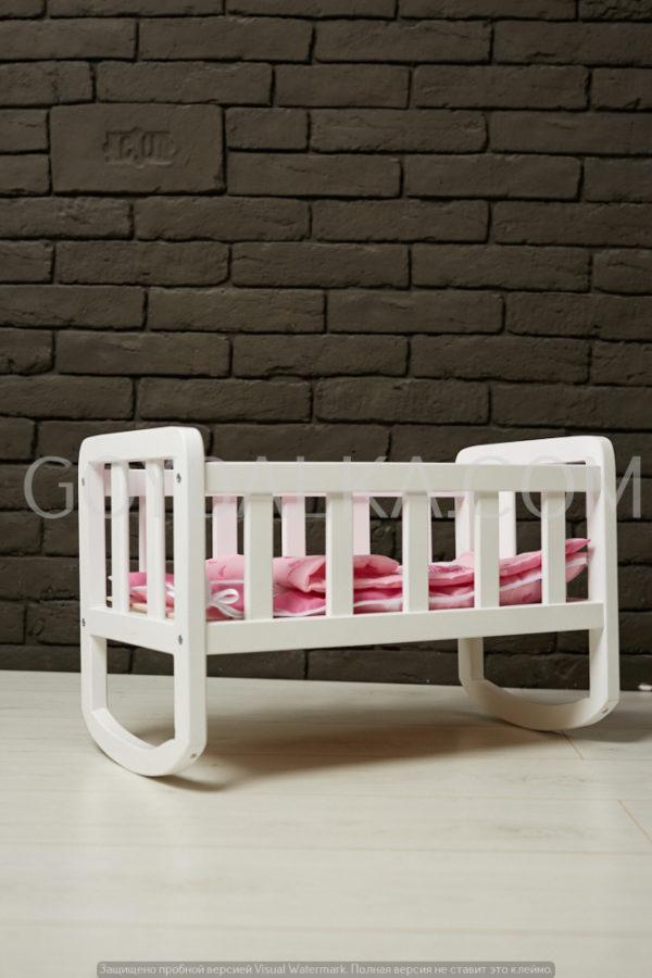 Кроватка для куклы (тон белый)