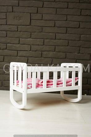 Кроватка для куклы (тон белый), фото 2