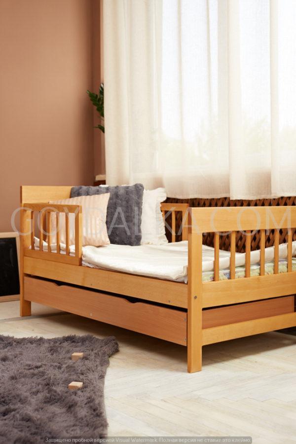 Кровать «TEXAS» с ящиком (700 * 1400) (бук)
