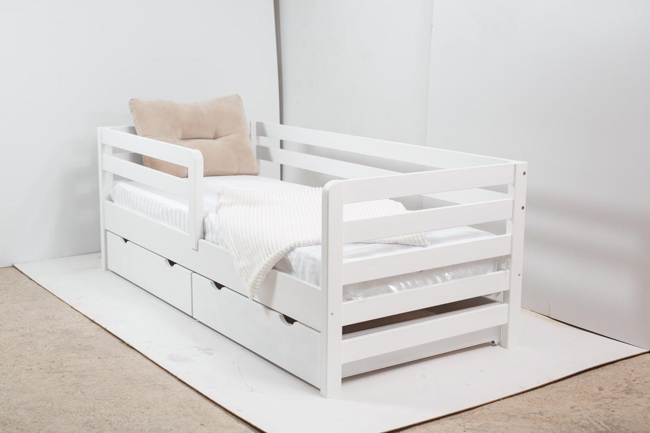 Кровать AURORA с ящиками (бук) (окрашенные) 800 * 1900 мм.