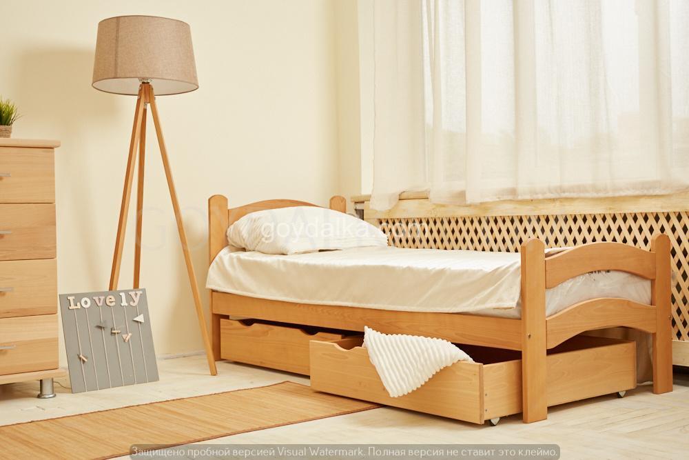 Кровать «PARIS» с ящиками (800 * 1900) (бук) окрашенные
