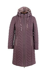 Весна женские Куртки больших размеров 50-58 темная пудра