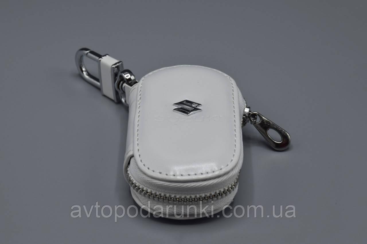 Ключница Carss с логотипом SUZUKI 24016 белая