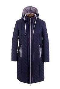 Женская весенняя куртка  больших размеров 50-58 синий
