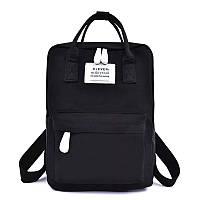 Рюкзак для девочки подростка школьный, водонепроницаемый в стиле Канкен черный FLAME HORSE (AV230)