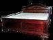 Кровать деревянная Флоренция (140*200) орех, фото 3