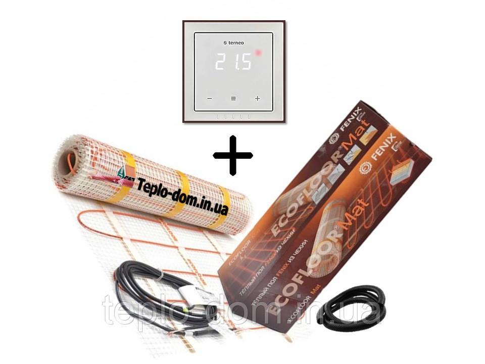 Нагревательный мат Fenix LDTS 12670-165 (4.2 м2)  с сенсорным терморегулятором Terneo S в комплекте (KIT2209)