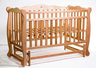 Кровать «NATALI» на подшипниках (3 высоты) (600 * 1200) (бук), фото 2