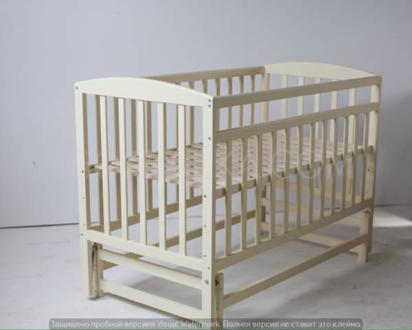 Кровать «VALERI» на подшипниках (3 высоты) (600 * 1200) (бук) окрашенные *