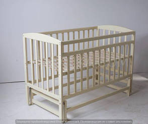Кровать «VALERI» на подшипниках (3 высоты) (600 * 1200) (бук) окрашенные *, фото 2