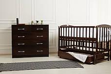 Кровать «VALERI» на подшипниках с откидной боковиной с ящиком (600 * 1200) (Венге), фото 2