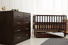 Кровать «VALERI» на подшипниках с откидной боковиной с ящиком (600 * 1200) (Венге), фото 3