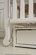 Кровать «NATALI» на подшипниках с откидной боковиной с ящиком (600 * 1200) (Белый), фото 3