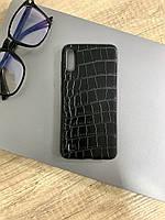 Чехол для Samsung M10 под кожу крокодила, Black