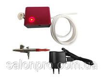 Аэрограф Mini Airbrush System TC-11, розовый