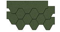 Kerabit К+Тройка Однотон зелена бітумна черепиця