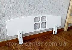 """Белый защитный барьер для кровати от производителя """"Домик"""" 100 см., фото 2"""