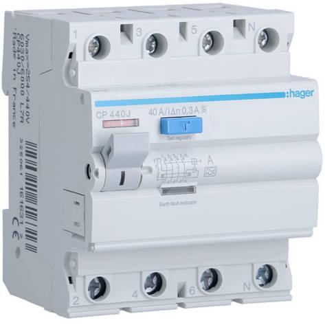 Пристрої захисного відключення 4P 300mA - тип A HI S, фото 2