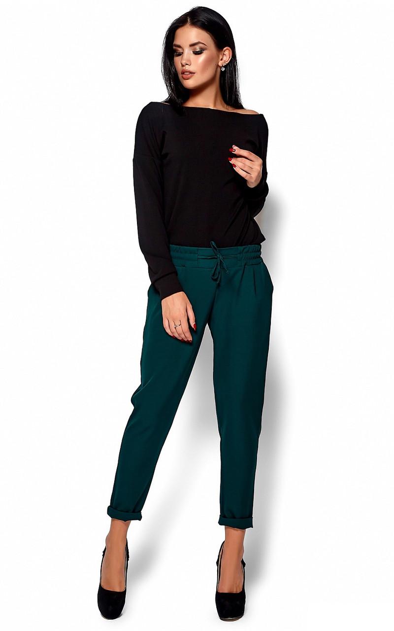 S, M / Стильні жіночі темно-зелені брюки Missa