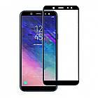 Защитное стекло для Samsung Galaxy A01 a015 2019 Black 3д, фото 3