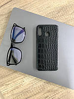 Чехол для Samsung M20 под кожу крокодила, Black