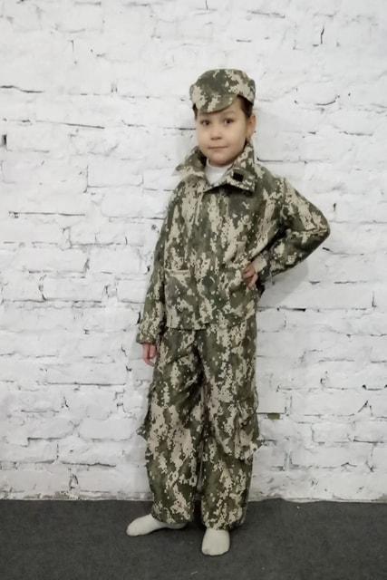 """Костюм """"Військовий"""" (штани, куртка, кепка). АКЦІЯ -25% до 03.04.20"""