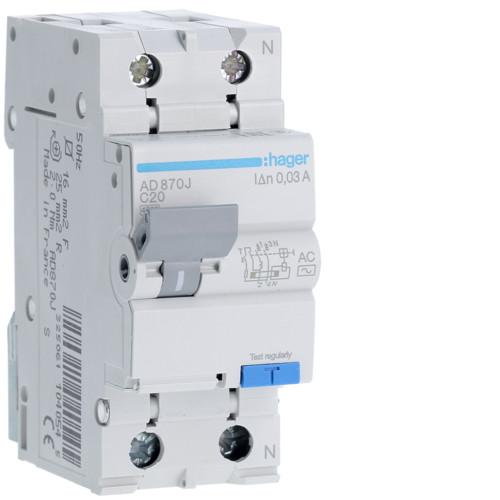 Диференційні автоматичні вимикачі C - AC 1P+N / 4.5kA 30mA