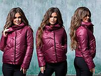 Женская куртка демисезон 312 (42 44 46 48) (цвета: черный, бордо, сирень) СП