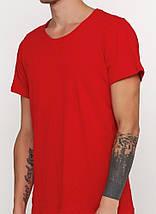 Футболка мужская круглая горловина, красная, фото 2