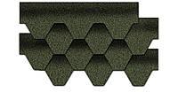 Kerabit К+Тройка зелено-чорна бітумна черепиця