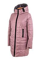 Женская демисезонная куртка больших размеров   46-56 пудра