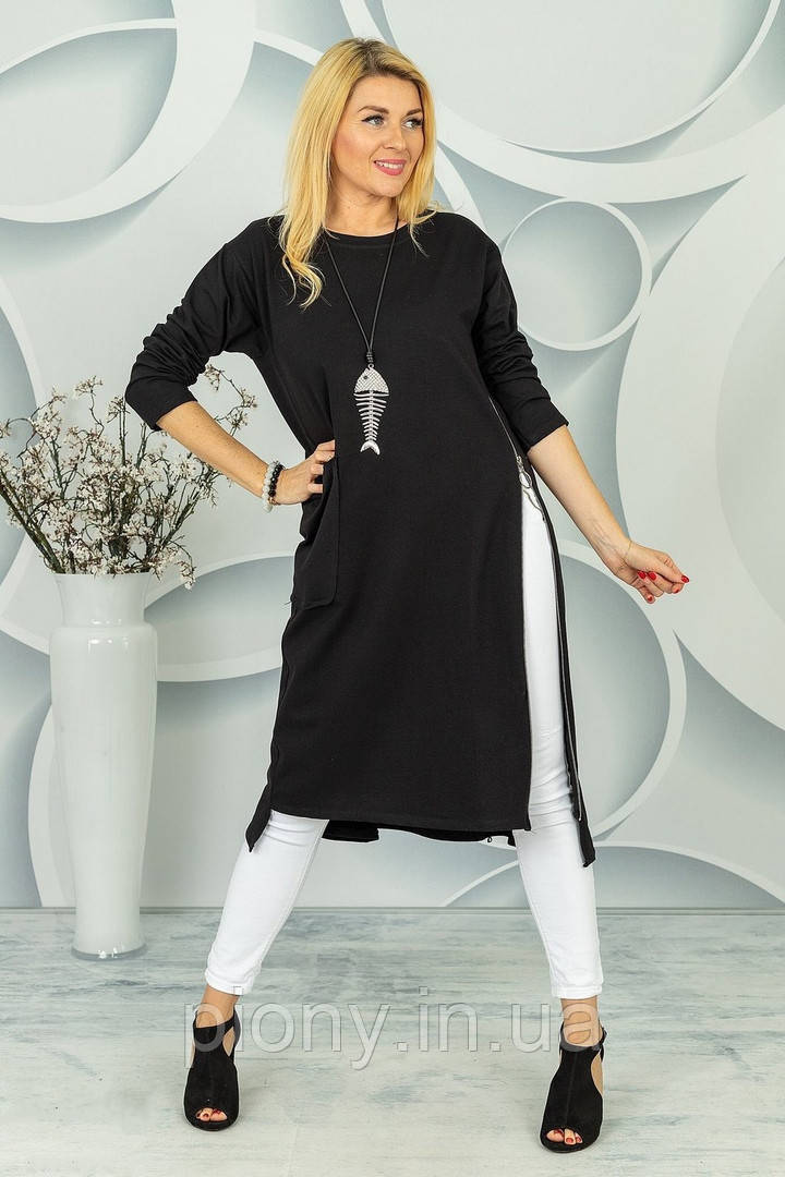 Женское Платье со змейкой БАТАЛ
