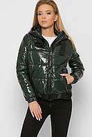 Женская весенняя куртка из лаковой плащевки