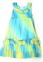 Платье Cristina Жёлто-Голубое