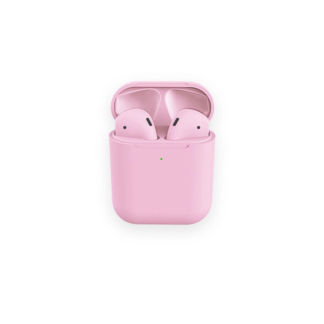Беспроводные наушники Macaroon AP2 light pink, sensor, wireless charging