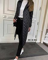 Женское стеганое пальто  (46-48,48-50) (цвета: черный, пудра, бордо) СП
