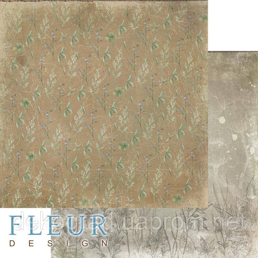 """Лист бумаги для скрапбукинга """"Травы"""", коллекция """"Дары полей"""", 30,5х30,5 см, плотность 190 гр."""