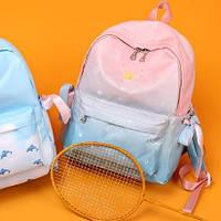 Новинка! Молодежный рюкзак омбре розовый для девочки водонепроницаемый Космос школьный, городской
