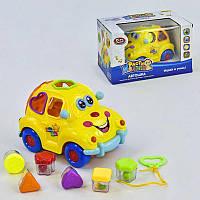 Машинка Play Smart Автошка на батарейках Желтый с синим (1-2269) КОД: 1-2269
