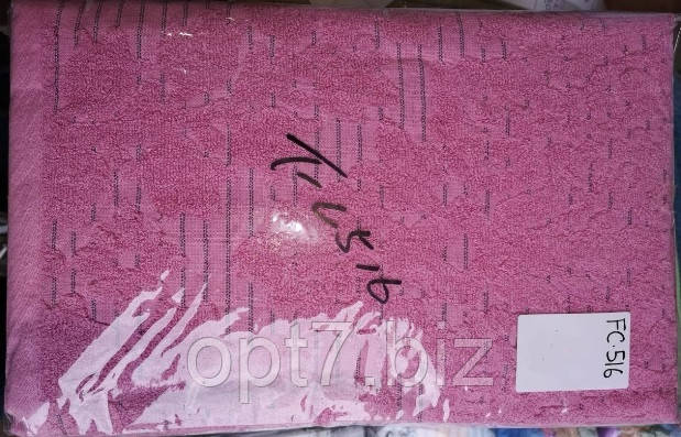 Полотенце банное лен с махрой 70*140 см (от 6 шт) - 6154369