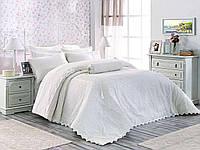 Покрывало  на кровать  с кружевом Arya Evelina 270X265 Yagmur белый