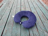 Подушка LSM для путешествий 30х30х9  темно синяя  (105-12)