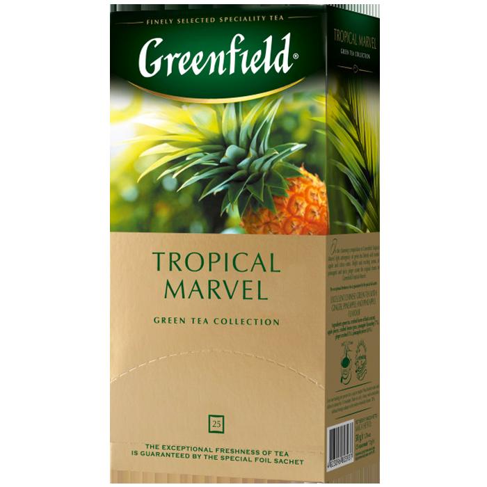 "Чай пакетированный зеленый Greenfield ""Tropical Marvel"" 25шт Ананас"