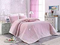 Покрывало  на кровать  с кружевом Arya Evelina 270X265 Yagmur розовый