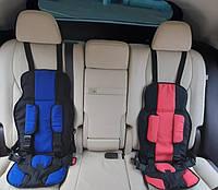 Детское бескаркасное автокресло от 1 до 12 лет (9 кг -35 кг) Синий цвет