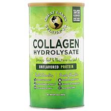 "Коллаген гидролизат Great Lakes Gelatin Co. ""Collagen Hydrolysate"" в порошке, без вкуса (454 г)"