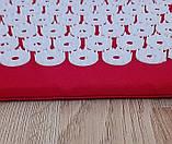 Акупунктурный массажный коврик для ног (коврик игольчатый для стоп массажный), 24 см*32см, фото 3