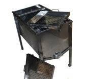 Стол для Распечатывания сот – 1 метр, 2 плоские корзины, толщина 0,8 мм