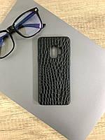 Чехол для Samsung S9 под кожу крокодила, Black